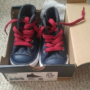 converse all star navy and red quilted